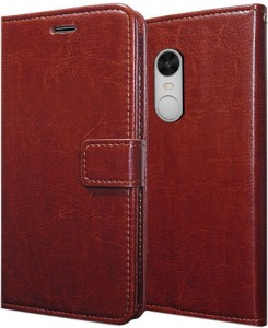 official photos acaaa c3608 Febelo Flip Cover for Mi Redmi Note 4Brown