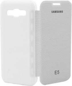 hot sale online 40277 83ea1 Platina Flip Cover for SAMSUNG Galaxy E5White