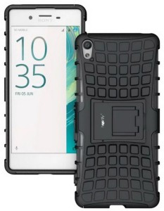 various colors 84061 f6596 Heartly Grip Back Cover for Sony Xperia XA DualRugged Black