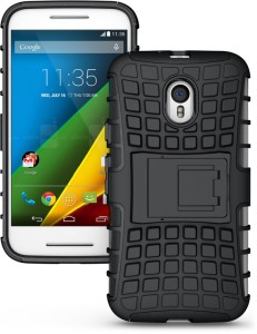 official photos a5017 9065f AW Back Cover for Motorola Moto G (3rd Generation)Black, Shock Proof