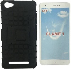 brand new 26d19 c3be6 Alonzo Back Cover for LYF Flame 1Black, Shock Proof