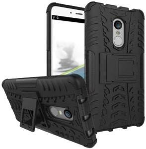 iZAP Back Cover for Xiaomi Redmi note 4 (Black Kickstand)