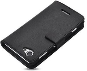 buy online 0141c 09fbc Cubix Flip Cover for Sony Xperia L C2104Black