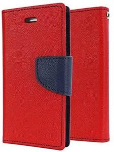 Quickshoppe Wallet Case Cover for Lenovo Vibe Shot Z90Red&Blue