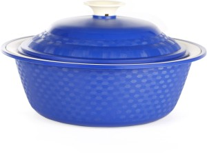 Cutting Edge Carnation Royal Casserole 1800 ml (Blue, Pack of 1) Casserole Set