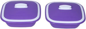 Cutting Edge Solitaire Casserole,Set of 2, 1250 ml, Purple Pack of 2 Casserole Set