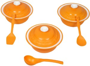 Cutting Edge Carnation Casserole and Serving Dish Set of 3 with 3 Spoon Pack of 6 Casserole Set
