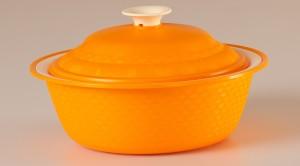 Cutting Edge Carnation Royal Casserole Orange 1 pc set 1800ml Casserole Set