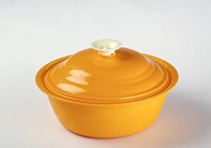 Cuttingedge Daffodil Serving Dish Royal Candy Orange 1800 ml Casserole (Orange, Pack of 1) Casserole Set