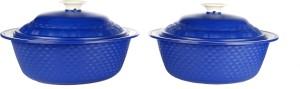 Cutting Edge Carnation Casserole Set of 2, 1800 ml, Blue Pack of 2 Casserole Set