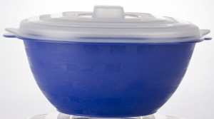 Cuttingedge Square Server Small With Transparent Lid 1500 ml Casserole (Blue, Pack of 1) Casserole Set