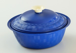 Cuttingedge Daffodil Serving Dish Royal 1800 ml Casserole (Blue, Pack of 1) Casserole Set