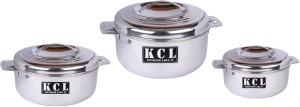 KCL Senior Stainless Steel 1500ml 2500ml 3500 ml Set Pack of 3 Casserole Set