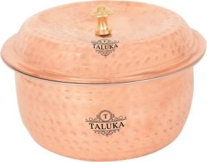 Taluka (7 x 5 inches) Handmade Copper Casserole with Copper Lid Casserole