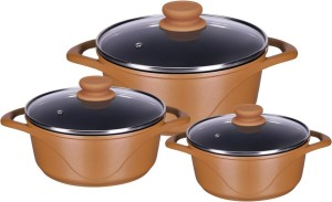 Alda die cast Pack of 3 Casserole Set