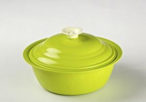 Cuttingedge Daffodil Serving Dish Royal 1800 ml Casserole (Green, Pack of 1) Casserole Set