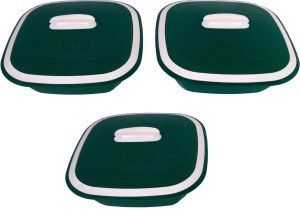 Cuttingedge Solitaire Set of 3 Small 1250 ml Casserole Set (Green, Pack of 3) Pack of 3 Casserole Set