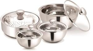 Nano Nine Meal Serve Insulated, Roti Saver Small(1150 ml) Gravy Pot Nano,Mini& Small(500+850+1150 ml)- Gift Set No. 3 Pack of 4 Casserole Set