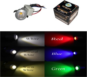 buy online 1ab36 b778c EPSORI Led Nio Cob Downlight Round, Power - 1 Watt, Color - GREEN, RED,  BLUE, YELLOW, NATURAL WHITE, WHITE (PACK OF 6) Cove Lights Ceiling Lamp