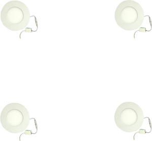 Galaxy 3 watt Led panel light Round,Cool white with 2 years warranty Set of  4 Recessed Ceiling Lamp