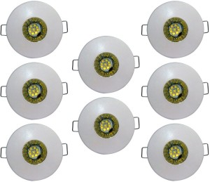 Bene 3w Round Ceiling Light , Color of LED Blue (Pack of 8 Pcs) Recessed Ceiling Lamp