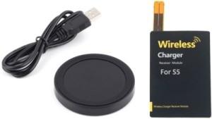 Karp Round Circle Wireless Mini Charging Pad For Samsung Galaxy S6/S6 Edge, Nokia Lumia, Google Nexus, HTC, LG,(Black On Black) … Charging Pad