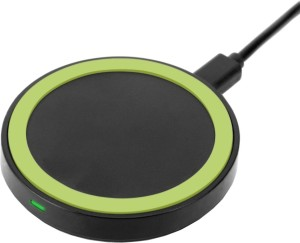 KARP Wireless Charging Pad with Receiver-Green on Black for Samsung,Nokia Lumia,HTC,LG,Google Nexus and Other Qi-compliant Devices Charging Pad
