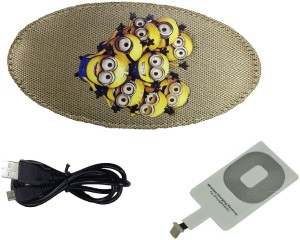 SG Minions Wireless Charger Pad, Reciever Combo 2336 Charging Pad