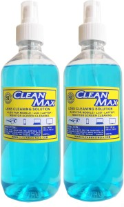 Cleanmax CLEANING SOLUTION 500ml - Pack of 2 - (LUXURY GOLD FRAGRANCE) for Mobiles, Laptops, Computers, Gaming