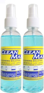 Cleanmax CLEANING SOLUTION 100ml - Pack of 2 - (LUXURY GOLD FRAGRANCE) for Mobiles, Laptops, Computers, Gaming