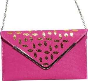 Veins Women Casual Pink  Clutch