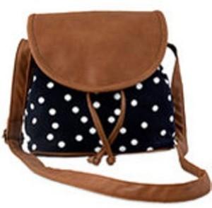 fe317d342cd Kleio Women Black Brown PU Canvas Sling Bag Best Price in India ...