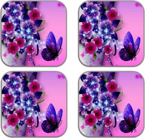 meSleep Flower Abstract with Butterfly MG-21-06-04 Fridge Magnet