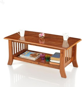 Royal Oak Vita Solid Wood Coffee Table Finish Color Natural Brown