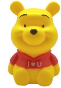 Tuelip Cute Kids Favorite Cartoon Character Winnie The Pooh PiggyMoney Coin Bank