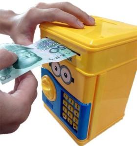 Variety Gift Centre Electronic Minion Coin Bank Coin BankMulticolor