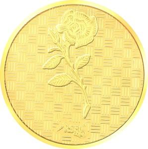 RSBL Precious Certified Wonderful Rose Design 24 (995) K 0.5 g Yellow Gold Coin