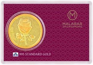 Malabar Gold and Diamonds MGRS995C 24 (995) K 0.45 g Gold Coin