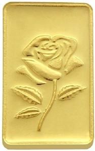 TBZ TheOriginal Beautiful Rose 24 (999) K 25 g Yellow Gold Coin