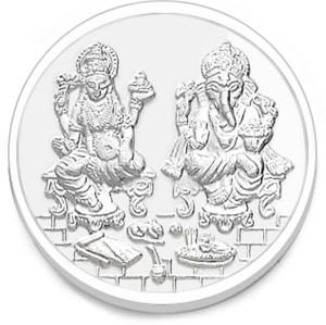 Taraash Laxmi with Ganeshji S 999 5 g Silver Coin