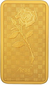 RSBL Precious Certified Dazzling Rose Design 24 (999) K 5 g Yellow Gold Bar