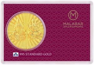 Malabar Gold and Diamonds MGLG995D 24 (995) K 0.7 g Gold Coin
