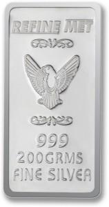 P.N.Gadgil Jewellers Refine Met Chip S 999 200 g Silver Bar