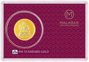 Malabar Gold and Diamonds MGGA995A 24 (995) K Gold Coin