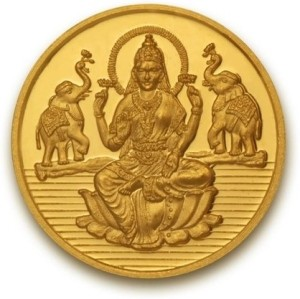 P.N.Gadgil Jewellers Laxmi Shree 24 (995) K 5 g Gold Coin