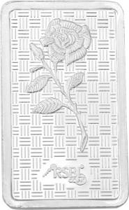 RSBL Precious Certified Ravishing Rose Design 24 (999) K 20 g Silver Bar