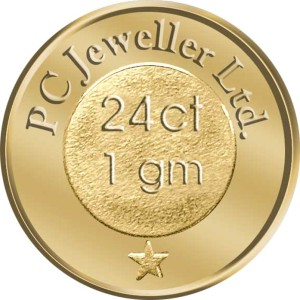 WearYourShine by PC Jewellers Floral 24 (995) K 1 g Gold Coin