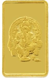 TBZ TheOriginal TBZ - The Original 1 Grm Ganesh 24KT 999 Gold Coin 24 (999) K 1 g Gold Coin