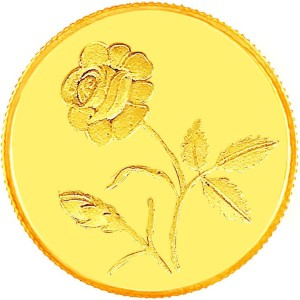 E Gitanjali Ltd Flower 24 (999) K 1 g Gold Coin