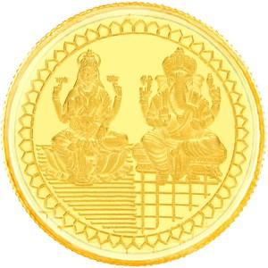 E Gitanjali Ltd Laksmi-Ganesh 24 (999) K 10 g Gold Coin